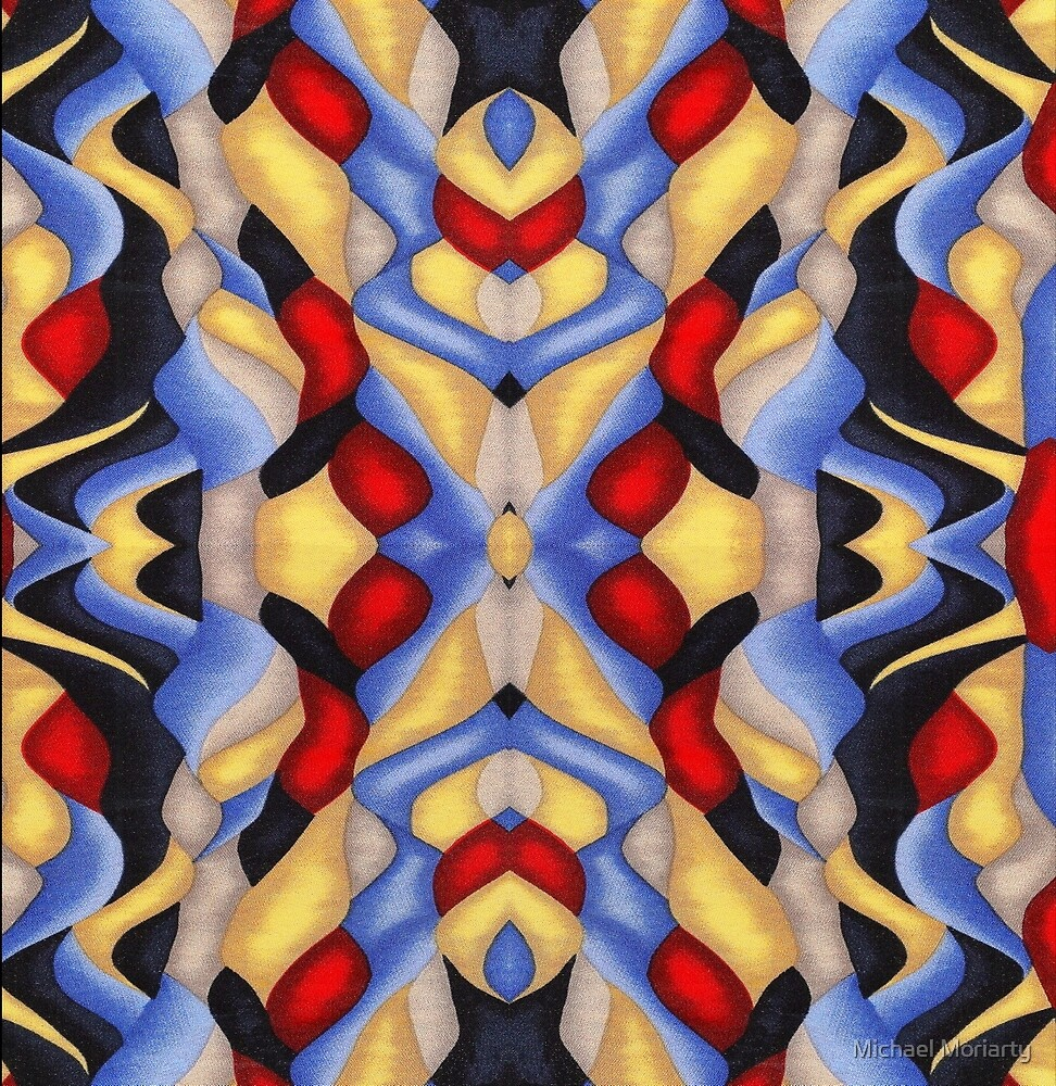 Abstract Red and Blues by Michael Moriarty