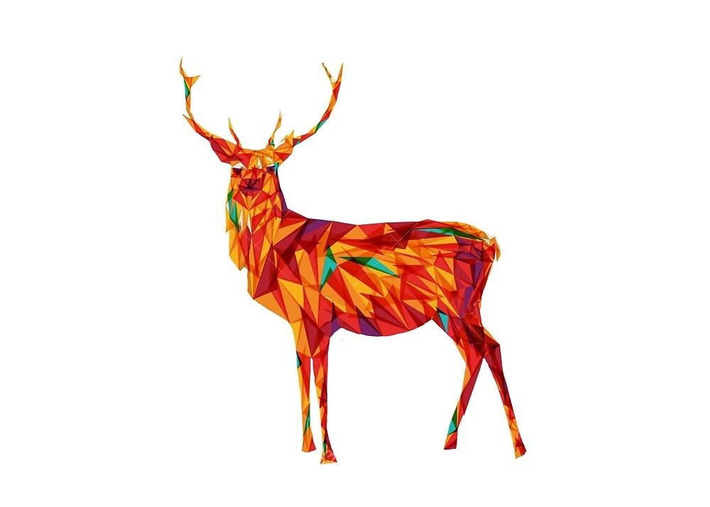 Geometric Elk by Jeremy  Ingram