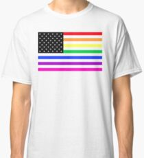 usa rainbow flag Classic T-Shirt