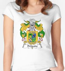 Delgado Coat of Arms/Family Crest Women's Fitted Scoop T-Shirt