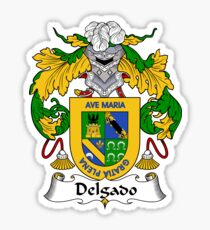 Delgado Coat of Arms/Family Crest Sticker
