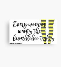 The Bumblebee Tights| Me Before You- Jojo Moyes Metal Print