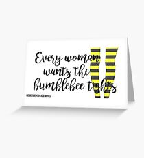 The Bumblebee Tights| Me Before You- Jojo Moyes Greeting Card