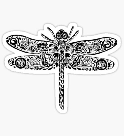 Dragonfly Doodle Sticker