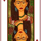 Frida Kahlo, queen of hearts by Madalena Lobao-Tello