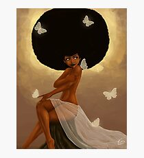 Fro and Butterflies Photographic Print