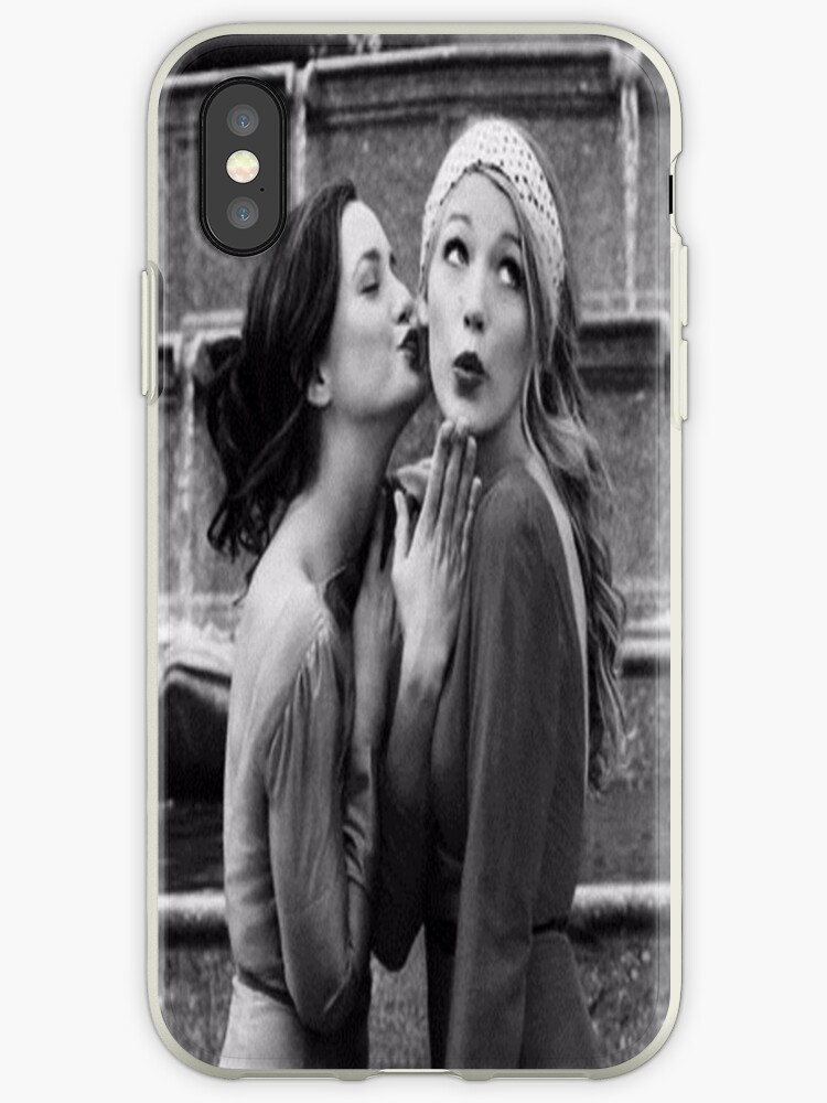 Blair and Serena Black and White.  by kingofdunkirk