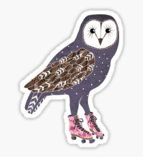I skate OWL night long Sticker