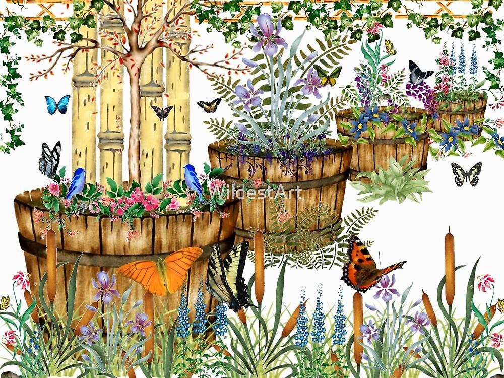 Flower Barrels by WildestArt