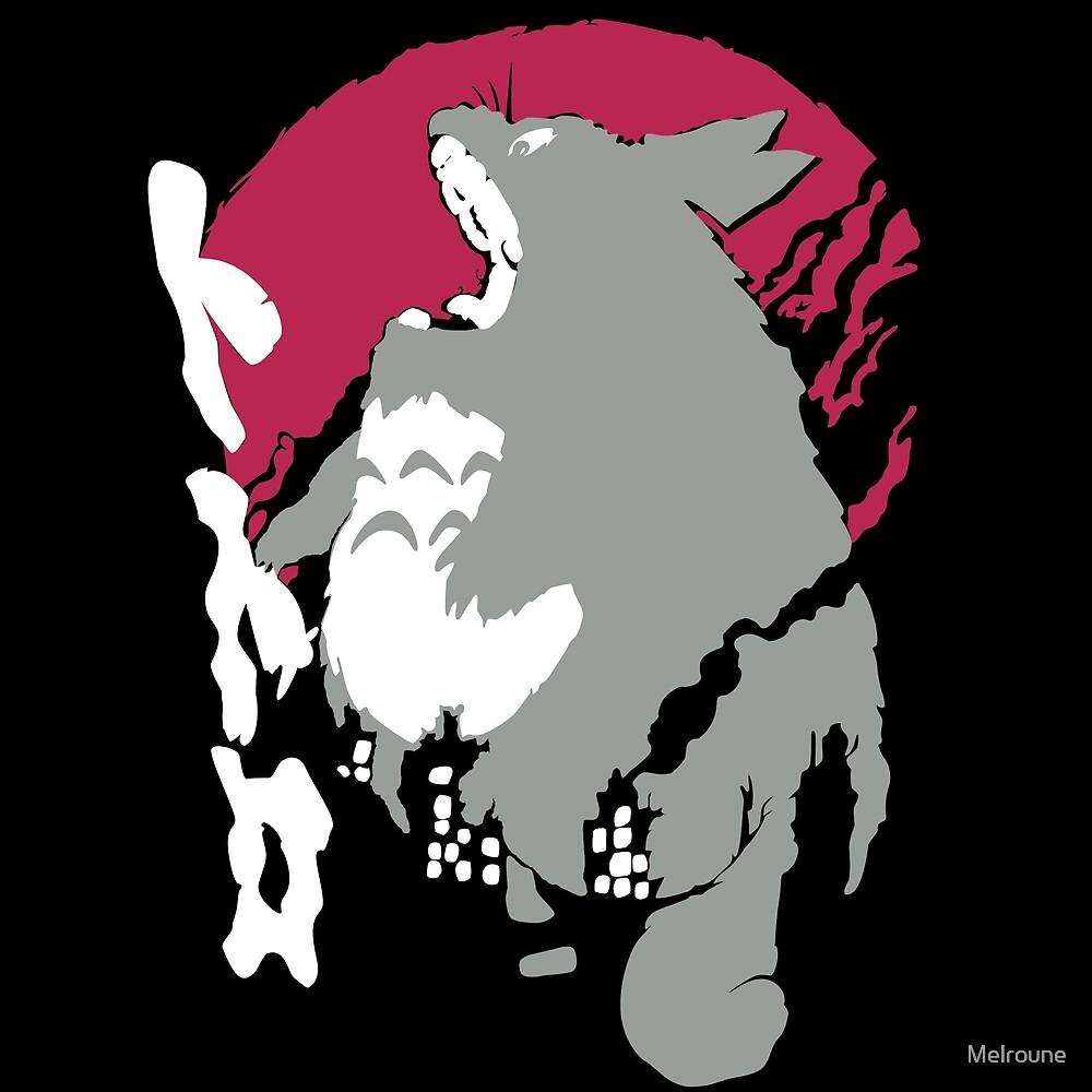 Totoro Grrr by Melroune