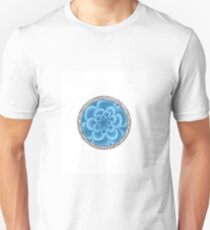 flower with striped round blue Unisex T-Shirt