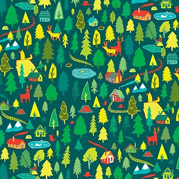 Green Forest Pattern by whatemma