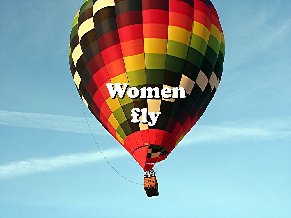 Women fly: hot air balloon by FranWest