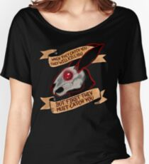 Black rabbit of inle (plain background) Women's Relaxed Fit T-Shirt