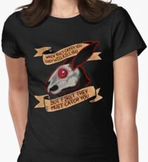 Black rabbit of inle (plain background) Women's Fitted T-Shirt