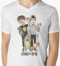 Kian & Jc Mens V-Neck T-Shirt