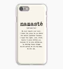 Namaste. iPhone Case/Skin
