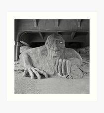 The Fremont Troll & his dinner  Art Print