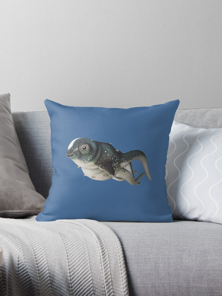 Quot Cutefish Quot Throw Pillow By Unknownworlds Redbubble