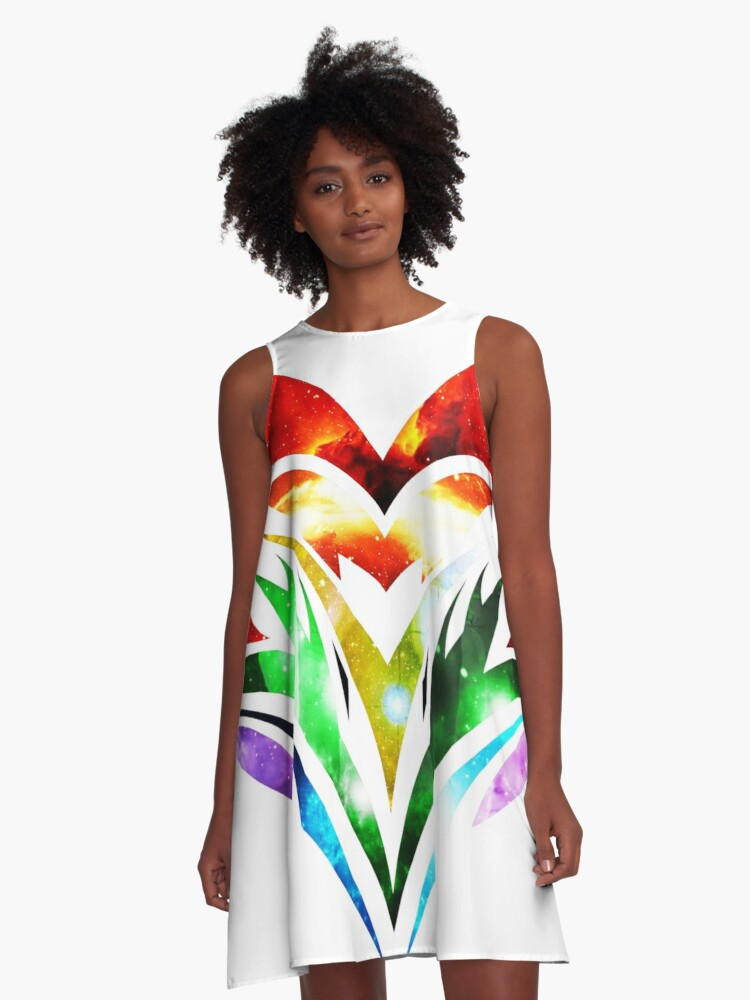 Tribal Heart A-Line Dress Front