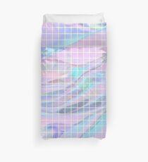 Holographic Grid Duvet Cover