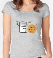 Hi Hi cookie and Milk Women's Fitted Scoop T-Shirt