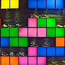 Sportshoe display by Arie Koene