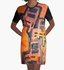 Stack of Chairs Graphic T-Shirt Dress