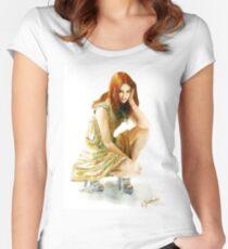 Karen Gillan Women's Fitted Scoop T-Shirt