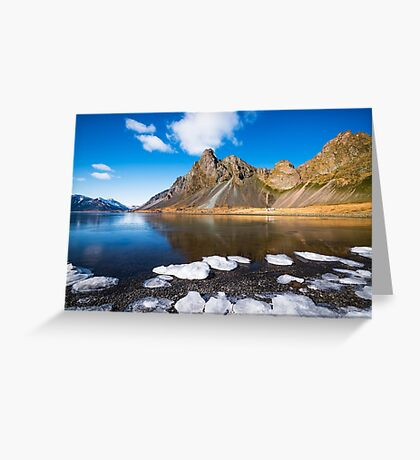 Water and Ice Greeting Card
