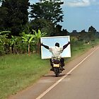 ugandan mod on his scooter by gruntpig