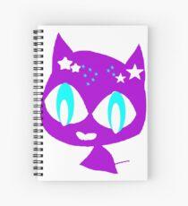 Purple kitten Spiral Notebook