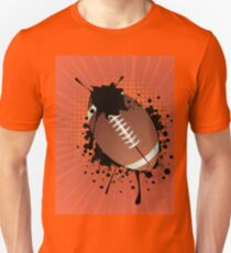 Rugby Ball on Rays Background T-Shirt