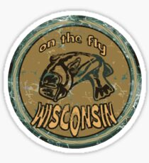 On the fly Wisconsin Sticker