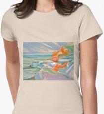 seashore Womens Fitted T-Shirt