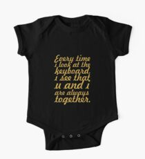 Every time i look... Inspirational Quote One Piece - Short Sleeve