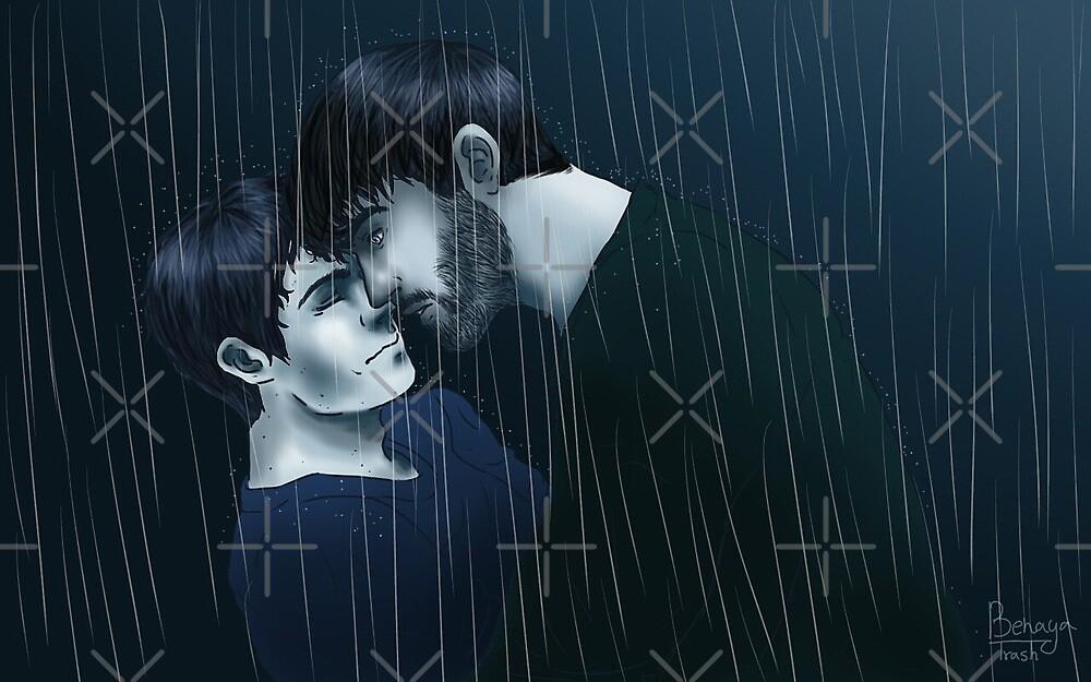 Sterek- Rain print by Benaya-Trash