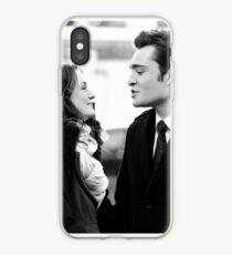 Blair and Chuck Black & White.  iPhone Case