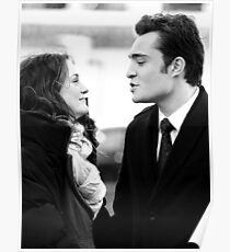 Blair and Chuck Black & White.  Poster