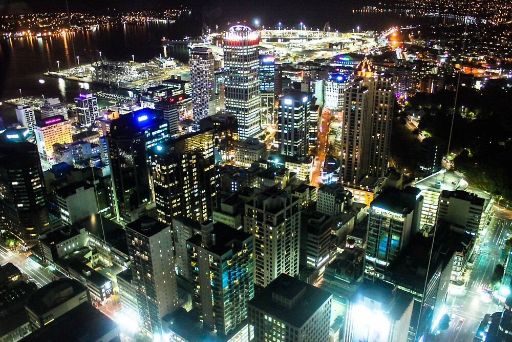 Auckland at Night! by Poptheorystore