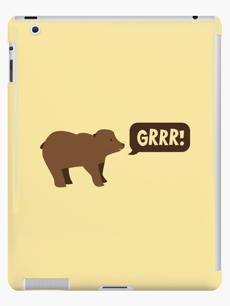 GRRR grizzly brown bear growling by jazzydevil