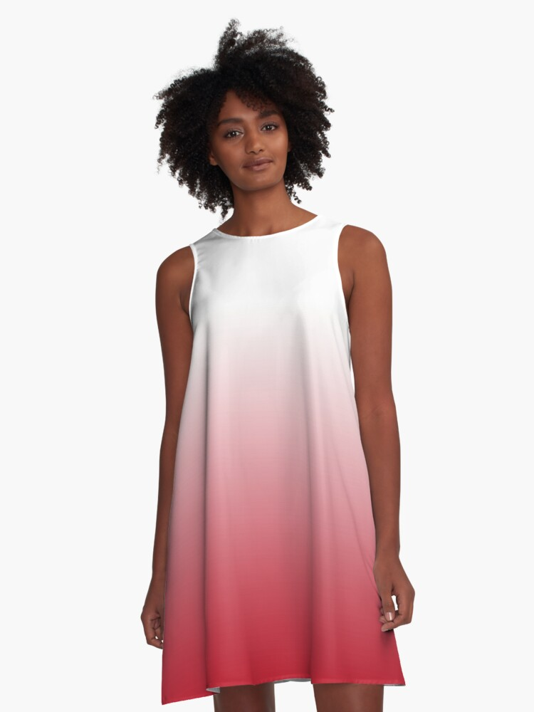 Strawberries and Cream A-Line Dress Front