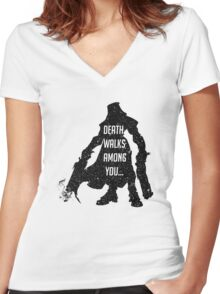 "Reaper's ""Stellar appearance"" Women's Fitted V-Neck T-Shirt"