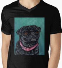 Pretty in Pink - Pug Dog oil painting by Michelle Wrighton T-Shirt