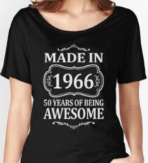 MADE IN 1966 50 YEARS OF BEING AWESOME  Women's Relaxed Fit T-Shirt