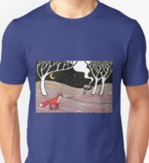 Stargazing - Fox in the Night Unisex T-Shirt