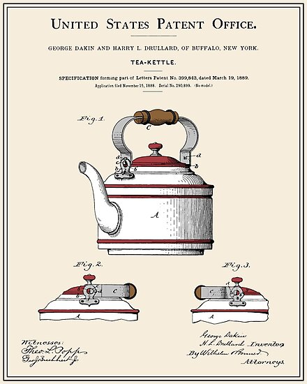 Tea Kettle Patent by FinlayMcNevin