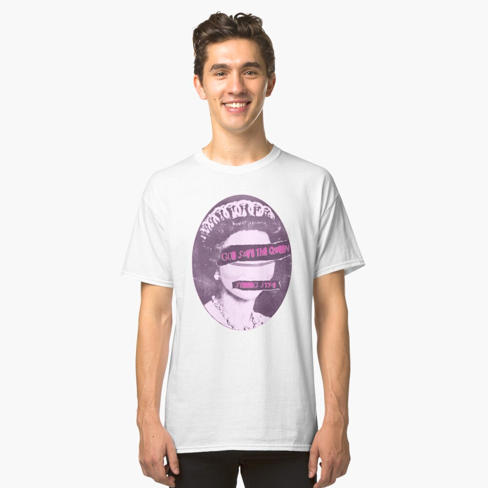 God Save The Queen Classic T-Shirt Front