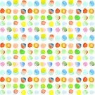 Hand-Painted Watercolor Colorful Polka Dots Rainbow Circles by Beverly Claire Kaiya