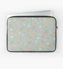 MACARONS & ROSES ON OLIVE Laptop Sleeve